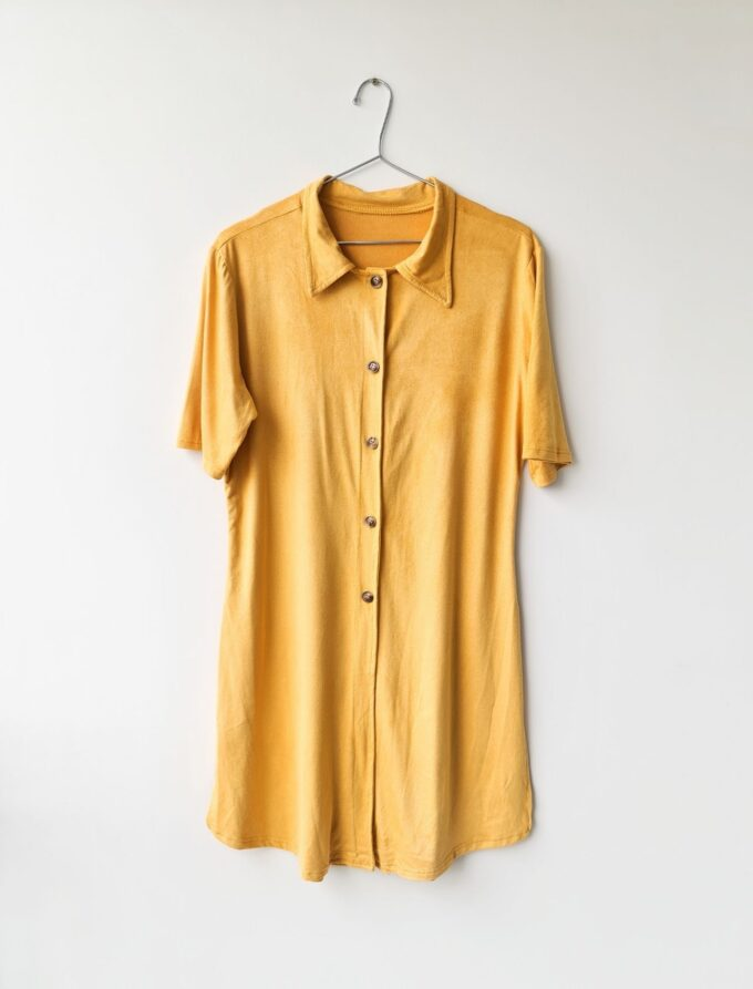 Camisa alongada de suede 1