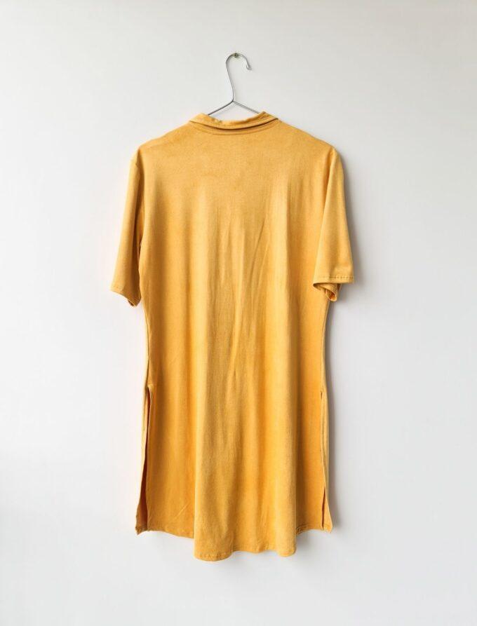 Camisa alongada de suede 2