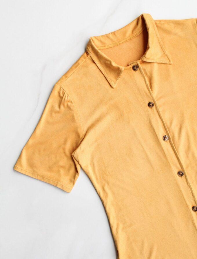 Camisa alongada de suede 5
