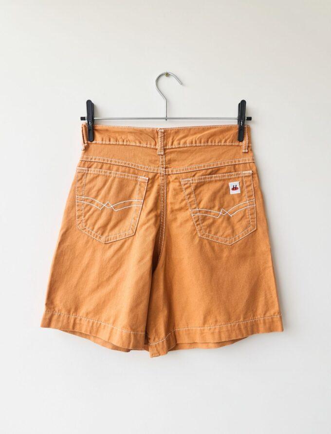 Short mom vintage laranja 4